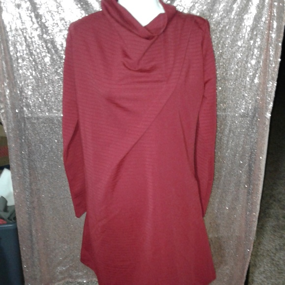 Unknown Dresses & Skirts - NWT Red Cowl Neck Winter Dress SZ XXL